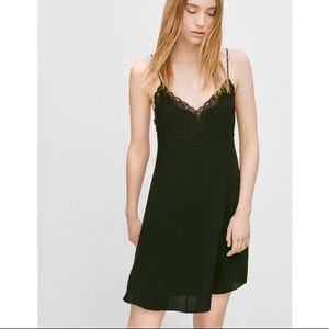 Aritzia black dress with lace trim size Xs